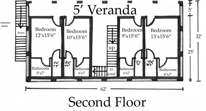 seva ashram proposed new guesthouse no 4 second floor plan