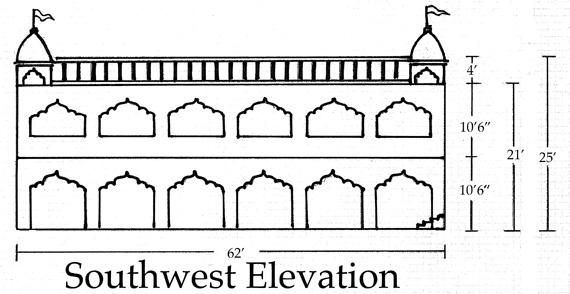 Elevations of Srila Govinda Maharaj�s residence