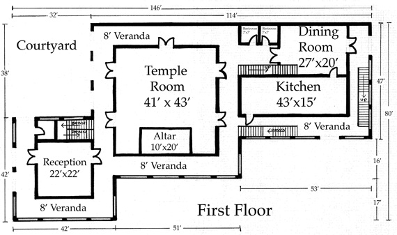 First Floor plan of the proposed new Temple Center