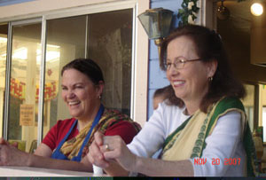 Pillars of our communities both here in Soquel and San Jose, Srimati Sanatani Didi and Srimati Jivana Didi.