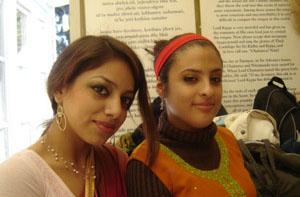Former childhood Seva Ashram residents, Dharani Suta Devi Dasi and Dhanistha Devi Dasi.