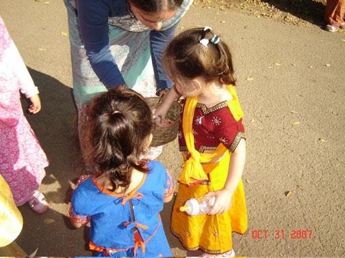 Flowers are gathered to offer Srila Gurudev.