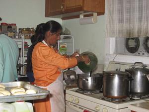 Nandarani Didi the special cook of Sriman Gauranga Sundar.