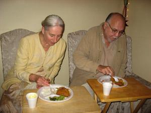Srimati Enakshi Didi and her husband Radha Raman Prabhu.
