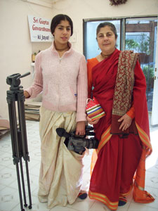Vaidehi with her mother Kalindi Didi