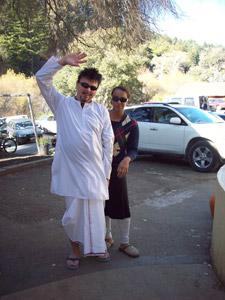 Madhavendra Prabhu and Syamesvari Didi, both drove 2 hours to be here with us.