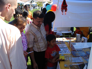 Entire families gathered around our booth and asked many questions and showed their appreciation.