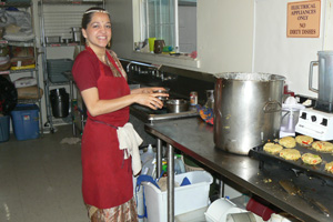 Annapurna Devi Dasi an expert chutney maker.