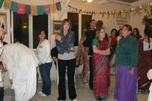 Chitra Devi Dasi, Alexa, Satyabhama Devi Dasi and Madhumati Didi.
