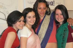 Carla, Jasmine, Ola and Isthadevika.