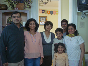 Arun Krishna Prabhu with his family and friends.