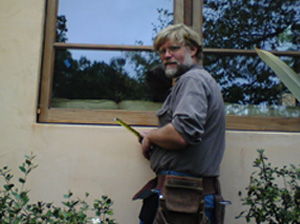 Our dear friend Brian, who recently departed this world donated his service to our Seva Ashram for many, many years. He donated the beautiful windows and helped build Srimati Tulsi Devi's green house in 2001. In April 2008, at the time of his passing away, Brian was involved in repairing and rebuilding the window frames and windows for Srimati Tulsi Devi.