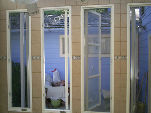 Srimati Tulsi Devi's new finished windows