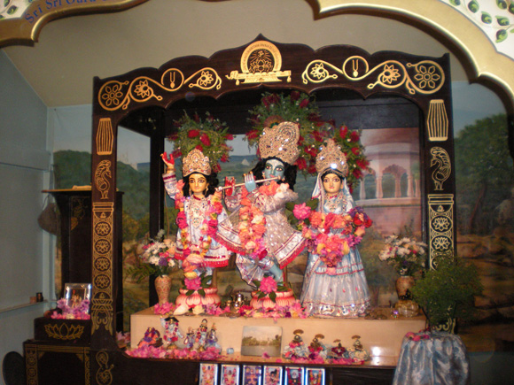 The Fourteenth Anniversary of the Installation of Their Lordships   Sri Sri Guru Gauranga Gandharvika Giridhari Jiu