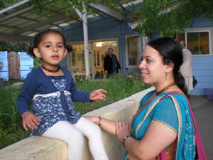 Young Vishaka and her mother Anupama Didi.