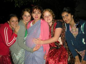 Jahnavi, Krishnapriya, Mallika, Devaki and Rohini Devi Dasis.