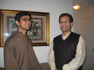 Venkatesh and a friend.