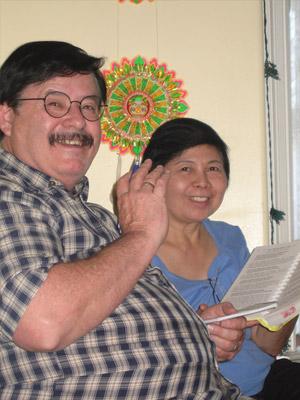 Jagadish and his wife Celia.