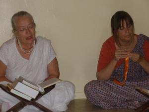 Srimati Sureshwari Didi and Madhumati Didi.