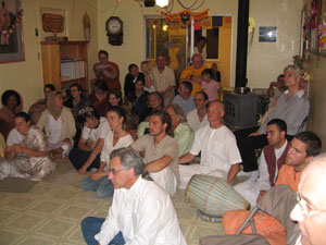 The devotees listened attentively absorbing the wonderful stories and special blessings for us on this day.