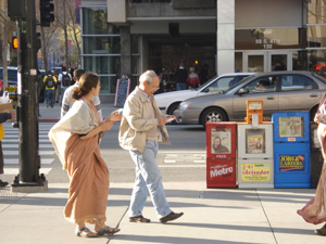 Many, many people were coming and going and the devotees distributed invitations and books to everyone.