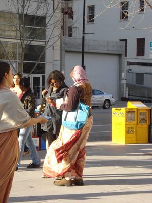 Mahadevi Didi and Laxmipriya Didi actively meet with the public.