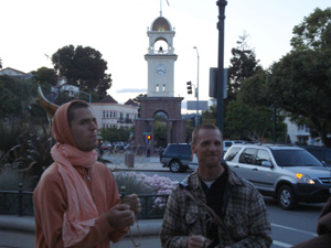 Even after the Sannyasis returned to the Ashram the kirtan continued.