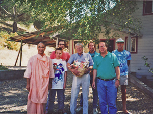 He was present when we first acquired the Soquel Seva Ashram property in 1993.