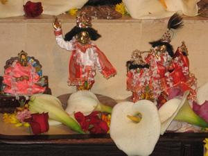 Srila Swami Maharaj, Sriman Mahaprabhu, and Sri Sri Gaura Radha Krishna.