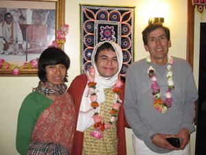 Jahnavi Didi, Madhu Gopal Prabhu, and Purna Brahma Prabhu visiting from Mexico.