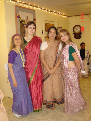 Srimati Vimala Didi, Govinda Nandini Devi, Mahadevi and Madhava Mohini Devi.