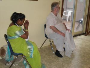 Srimati Kushum Didi and Jadhu Krishna Prabhu.